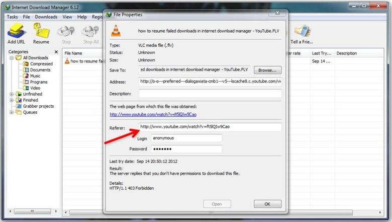How to Resume IDM download